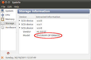 Device information provided by Sysinfo