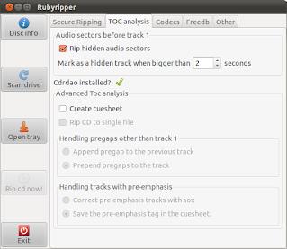 Rubyripper toc analysis tab