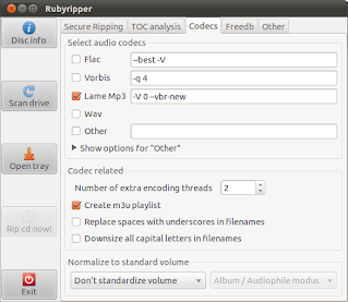 Rubyripper codecs tab