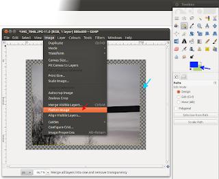 Kuvan litistäminen GIMPissä