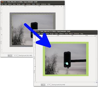 Kuvan litistämisen vaikutus GIMPissä