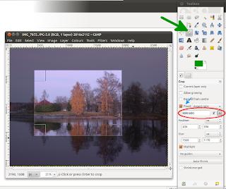 Kuvan rajaaminen GIMPissä